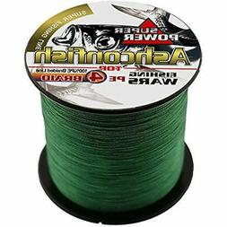 Ashconfish Super Strong Braided Fishing Line - 4 Strands Wir