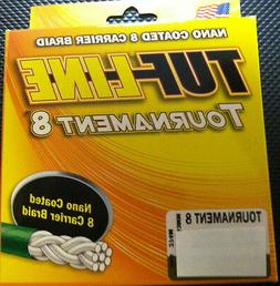 TUF LINE TOURNAMENT 8 -300 yds NANO COATED 8 CARRIER BRAID -